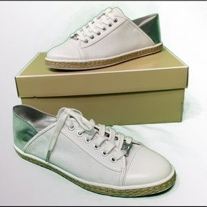 NIB Michael Kors Kristy Canvas Slide Sneaker 9.5